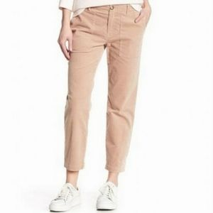 Joie Brushed Cotton Painter Chino Cropped Pants